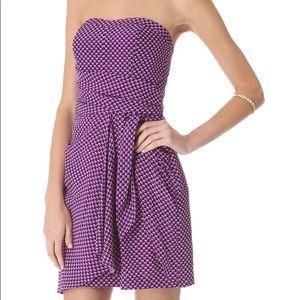 Club Monaco strapless silk dress